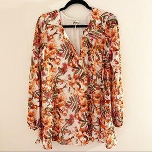 Show Me Your Mumu Floral Long Sleeve Tunic